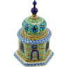 7-inch Stoneware Chapel Candle Holder - Polmedia Polish Pottery H4162G