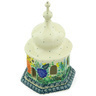 7-inch Stoneware Chapel Candle Holder - Polmedia Polish Pottery H5129G