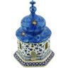 7-inch Stoneware Chapel Candle Holder - Polmedia Polish Pottery H5755G