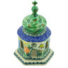 7-inch Stoneware Chapel Candle Holder - Polmedia Polish Pottery H5970G