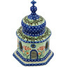7-inch Stoneware Chapel Candle Holder - Polmedia Polish Pottery H9140G