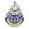 7-inch Stoneware Christmas Tree Candle Holder - Polmedia Polish Pottery H1405F
