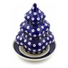 7-inch Stoneware Christmas Tree Candle Holder - Polmedia Polish Pottery H3606D