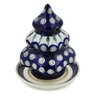 7-inch Stoneware Christmas Tree Candle Holder - Polmedia Polish Pottery H3607D