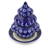 7-inch Stoneware Christmas Tree Candle Holder - Polmedia Polish Pottery H4234I