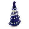 7-inch Stoneware Christmas Tree Candle Holder - Polmedia Polish Pottery H4553K