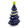 7-inch Stoneware Christmas Tree Candle Holder - Polmedia Polish Pottery H4794K