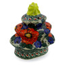7-inch Stoneware Christmas Tree Candle Holder - Polmedia Polish Pottery H5631F