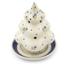 7-inch Stoneware Christmas Tree Candle Holder - Polmedia Polish Pottery H5928I
