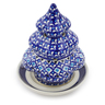 7-inch Stoneware Christmas Tree Candle Holder - Polmedia Polish Pottery H5930I
