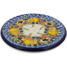 7-inch Stoneware Cutting Board - Polmedia Polish Pottery H7809J