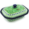 7-inch Stoneware Dish with Cover - Polmedia Polish Pottery H5127H