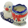 7-inch Stoneware Duck Shaped Jar - Polmedia Polish Pottery H5974K