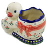 7-inch Stoneware Duck Shaped Jar - Polmedia Polish Pottery H6466K