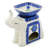 7-inch Stoneware Elephant Candle Holder - Polmedia Polish Pottery H6054I