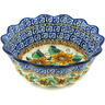 7-inch Stoneware Fluted Bowl - Polmedia Polish Pottery H4796H