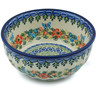 7-inch Stoneware Fluted Bowl - Polmedia Polish Pottery H9122H
