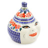 7-inch Stoneware Garlic and Onion Jar - Polmedia Polish Pottery H0250K