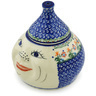7-inch Stoneware Garlic and Onion Jar - Polmedia Polish Pottery H0411C