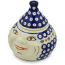 7-inch Stoneware Garlic and Onion Jar - Polmedia Polish Pottery H0966H