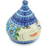 7-inch Stoneware Garlic and Onion Jar - Polmedia Polish Pottery H1388H