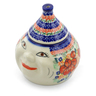 7-inch Stoneware Garlic and Onion Jar - Polmedia Polish Pottery H4983F