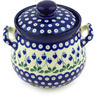 7-inch Stoneware Garlic and Onion Jar - Polmedia Polish Pottery H6451G