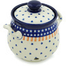 7-inch Stoneware Garlic and Onion Jar - Polmedia Polish Pottery H6483H
