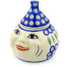 7-inch Stoneware Garlic and Onion Jar - Polmedia Polish Pottery H6984E