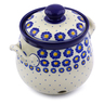 7-inch Stoneware Garlic and Onion Jar - Polmedia Polish Pottery H7217I