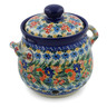7-inch Stoneware Garlic and Onion Jar - Polmedia Polish Pottery H7670J