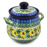 7-inch Stoneware Garlic and Onion Jar - Polmedia Polish Pottery H7672J