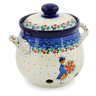7-inch Stoneware Garlic and Onion Jar - Polmedia Polish Pottery H7680J