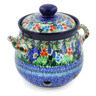 7-inch Stoneware Garlic and Onion Jar - Polmedia Polish Pottery H7683J