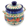 7-inch Stoneware Garlic and Onion Jar - Polmedia Polish Pottery H7684J