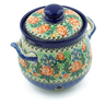 7-inch Stoneware Garlic and Onion Jar - Polmedia Polish Pottery H9088A