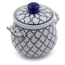 7-inch Stoneware Garlic and Onion Jar - Polmedia Polish Pottery H9113A