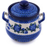 7-inch Stoneware Garlic and Onion Jar - Polmedia Polish Pottery H9359G