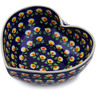 7-inch Stoneware Heart Shaped Bowl - Polmedia Polish Pottery H3144K