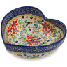7-inch Stoneware Heart Shaped Bowl - Polmedia Polish Pottery H3290K
