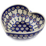 7-inch Stoneware Heart Shaped Bowl - Polmedia Polish Pottery H3376K