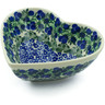 7-inch Stoneware Heart Shaped Bowl - Polmedia Polish Pottery H9299I