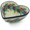 7-inch Stoneware Heart Shaped Bowl - Polmedia Polish Pottery H9300I