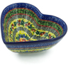7-inch Stoneware Heart Shaped Bowl - Polmedia Polish Pottery H9301I