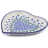 7-inch Stoneware Heart Shaped Platter - Polmedia Polish Pottery H1102J