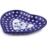 7-inch Stoneware Heart Shaped Platter - Polmedia Polish Pottery H2869J