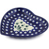 7-inch Stoneware Heart Shaped Platter - Polmedia Polish Pottery H2953K