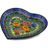 7-inch Stoneware Heart Shaped Platter - Polmedia Polish Pottery H4301E