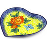 7-inch Stoneware Heart Shaped Platter - Polmedia Polish Pottery H4305E