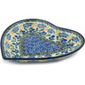 7-inch Stoneware Heart Shaped Platter - Polmedia Polish Pottery H5008I